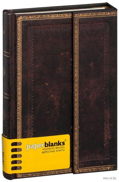 """Алфавитная книга Paperblanks """"Черная Марокканская кожа"""" (130x180 мм)"""