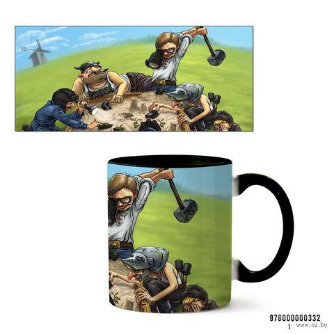 """Кружка """"Танки"""" (черная; арт. 332) — фото, картинка"""