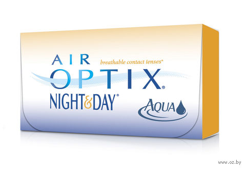 "Контактные линзы ""Air Optix Night and Day Aqua"" (1 линза; +5,0 дптр) — фото, картинка"
