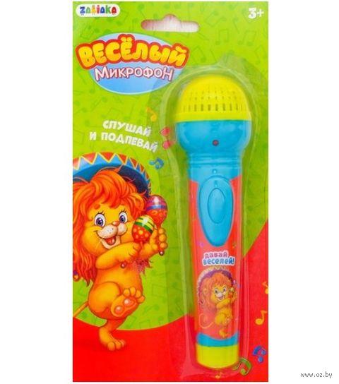 """Музыкальная игрушка """"Микрофон. Давай веселей"""" (со световыми эффектами) — фото, картинка"""