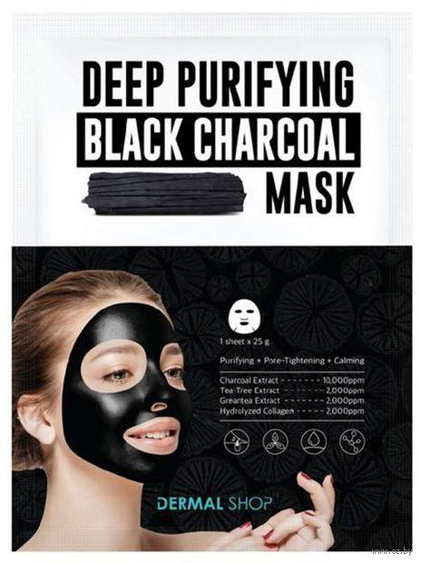 """Тканевая маска для лица """"Deep Purifying Black Charcoal"""" (25 г) — фото, картинка"""