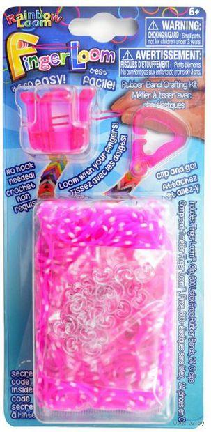 """Набор для плетения из резиночек """"Finger Loom. Розовый"""""""