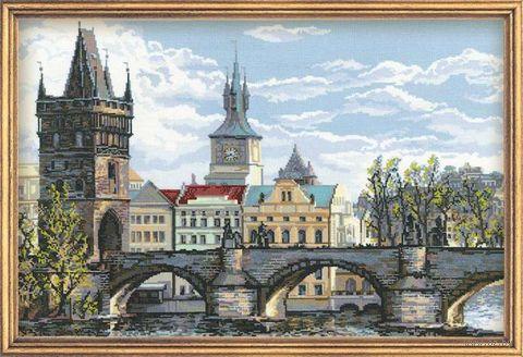 """Вышивка крестом """"Прага. Карлов мост"""""""