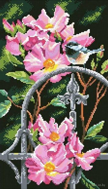 """Алмазная вышивка-мозаика """"Синичка в шиповнике"""" (260x450 мм) — фото, картинка"""