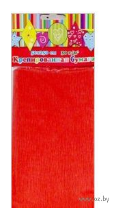 Бумага крепированная эластичная (красный)