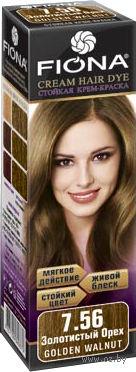 """Крем-краска для волос """"Fiona"""" (тон: 7.56, золотистый орех)"""