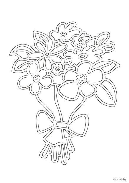 """Трафарет для рисования песком """"Цветы"""" (А5)"""