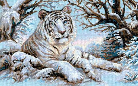 """Вышивка крестом """"Бенгальский тигр"""" (600х400 мм) — фото, картинка"""