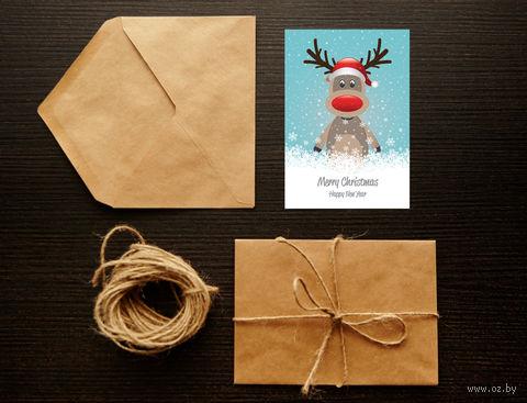 "Открытка ""Merry Christmas. Happy New Year"" (арт. 2) — фото, картинка"