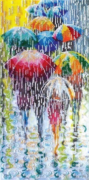 """Вышивка бисером """"Веселые зонтики"""" (200х400 мм) — фото, картинка"""