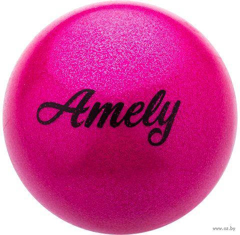 Мяч для художественной гимнастики AGB-103 (19 см; розовый) — фото, картинка