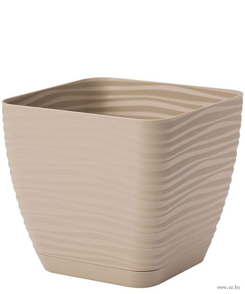 """Цветочный горшок """"Сахара. Петит"""" (14,7х14,7 см; кофе латте) — фото, картинка"""