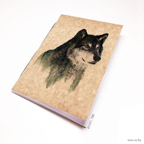 """Блокнот крафт """"Волк"""" (А5; арт. 941)"""