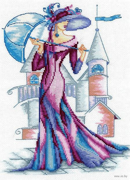 "Вышивка крестом ""Пурпурный шелк"""