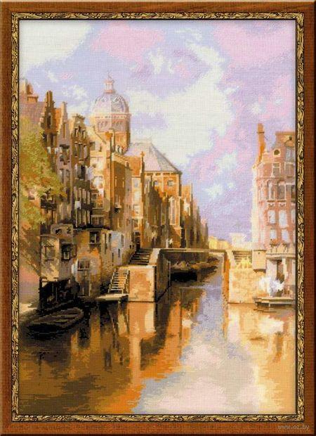 """Вышивка крестом """"И. Клинкенберг. Амстердам. Канал Аудезейтс Форбургвал"""" (400х600 мм) — фото, картинка"""