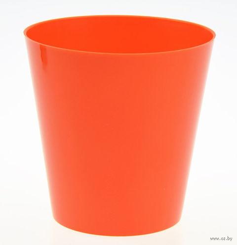"""Цветочный горшок """"Сэмпл"""" (19 см; оранжевый) — фото, картинка"""