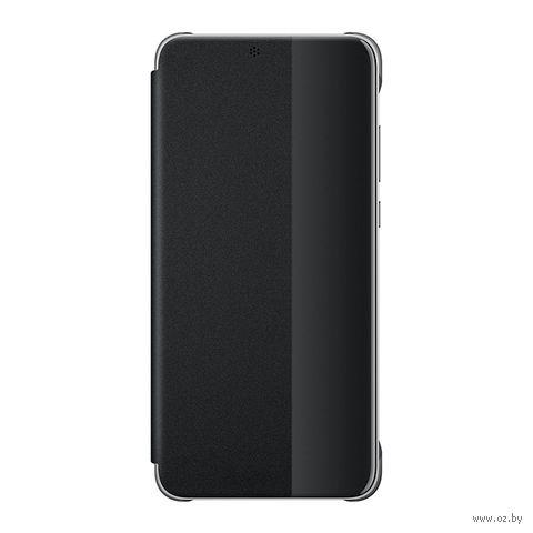 Чехол для телефона Huawei P20 Smart View Flip Cover (черный) — фото, картинка