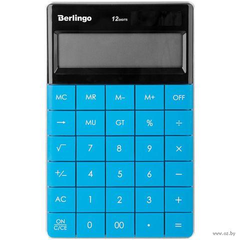 Калькулятор настольный (12 разрядов; синий) — фото, картинка
