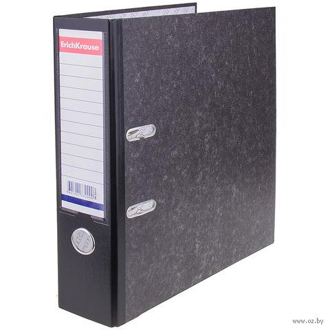 Файл-регистратор с карманом (А4/70 мм; черный мрамор)