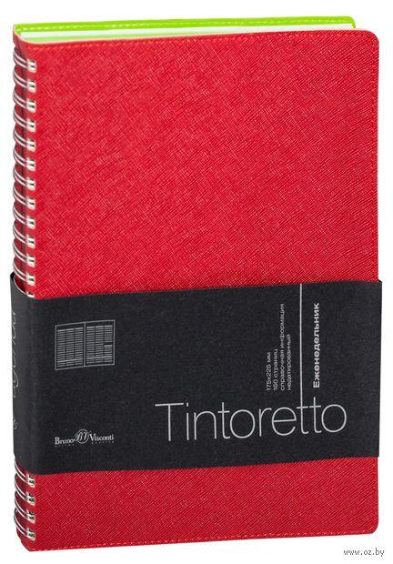 """Еженедельник недатированный """"Tintoretto"""" (B5; красный) — фото, картинка"""