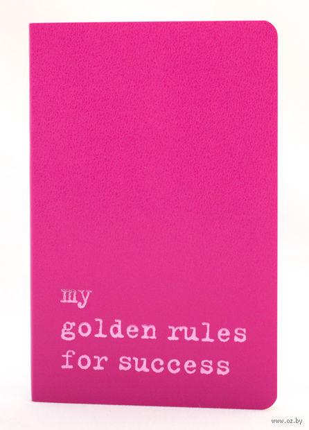 """Записная книжка Молескин """"Volant. My Golden Rules for Success"""" в линейку (карманная; мягкая темно-розовая обложка)"""