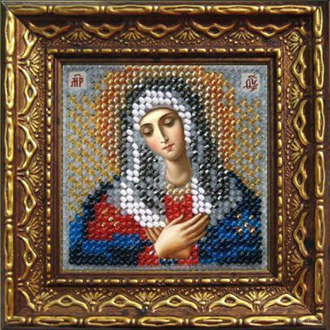 """Вышивка бисером """"Богородица Умиление"""" (65х65 мм; арт. 2068дПИ) — фото, картинка"""