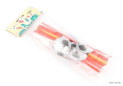 Набор соломок для питья пластмассовых с украшениями (12 шт.; арт. GL303B)
