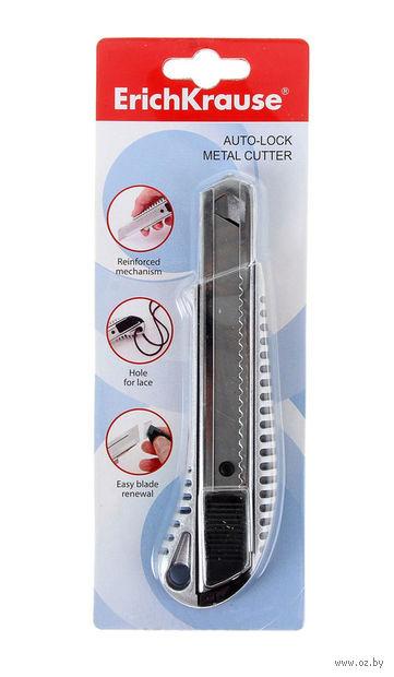 Нож канцелярский металлический (18 мм)