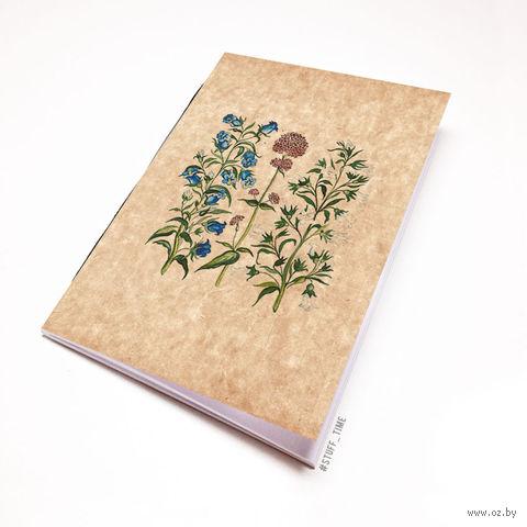 """Блокнот крафт """"Полевые цветы"""" А7 (772)"""