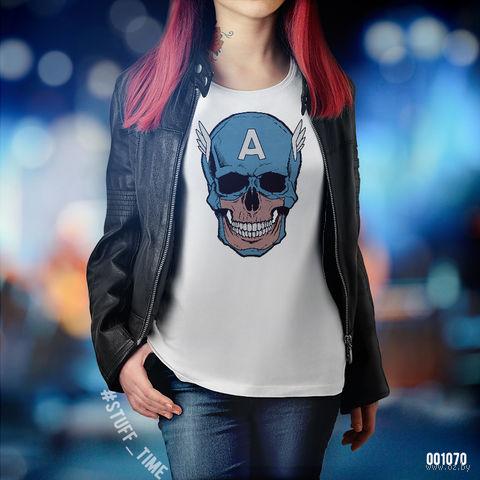 "Футболка женская ""Капитан Америка"" (XS; арт. 1070)"