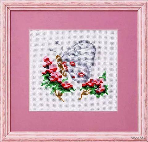 """Вышивка крестом """"Бабочка. Аполлон"""" (135x125 мм) — фото, картинка"""
