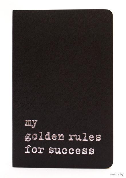 """Записная книжка Молескин """"Volant. My Golden Rules for Success"""" в линейку (карманная; мягкая черная обложка)"""