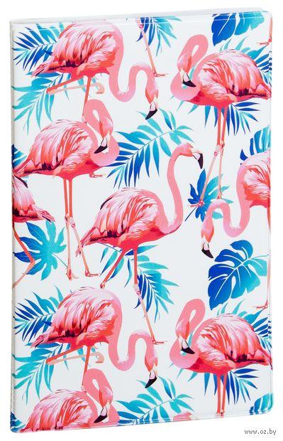 """Обложка на паспорт """"Розовый фламинго"""" — фото, картинка"""