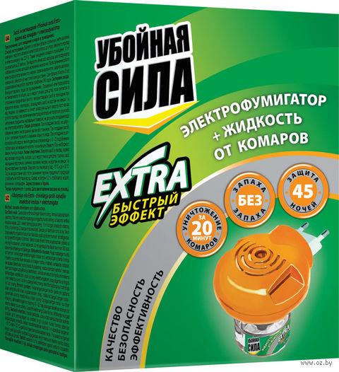 """Электрофумигатор с жидкостью от комаров """"Extra. 45 ночей"""" (30 мл) — фото, картинка"""