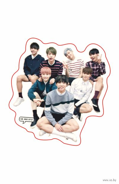"Наклейка ""BTS"" (арт. 6) — фото, картинка"