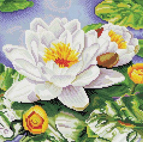 """Алмазная вышивка-мозаика """"Нимфея озерная"""" (300х300 мм) — фото, картинка"""