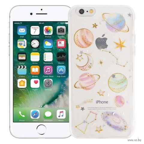 """Чехол для iPhone 6/6S """"Космический"""" (прозрачный) — фото, картинка"""
