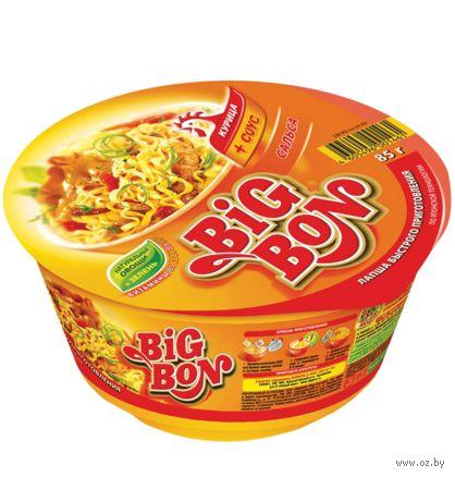 """Лапша быстрого приготовления с соусом """"Big Bon. Курица и соус сальса"""" (85 г) — фото, картинка"""