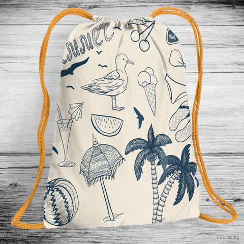 """Рюкзак-мешок """"Лето"""" (арт. 3) — фото, картинка"""