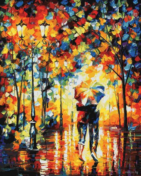 """Картина по номерам """"Под зонтом"""" (400х500 мм) — фото, картинка"""