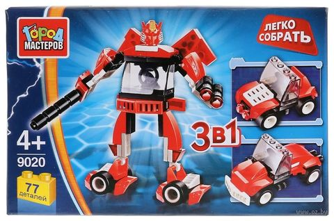 """Конструктор """"Легко собрать. Робот 3 в 1"""" (77 деталей) — фото, картинка"""