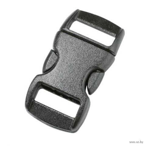 Пряжка фастекс без регулировки (10 мм; чёрная) — фото, картинка
