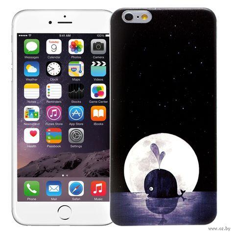 """Чехол для iPhone 6 Plus """"Кит"""" (чёрный) — фото, картинка"""