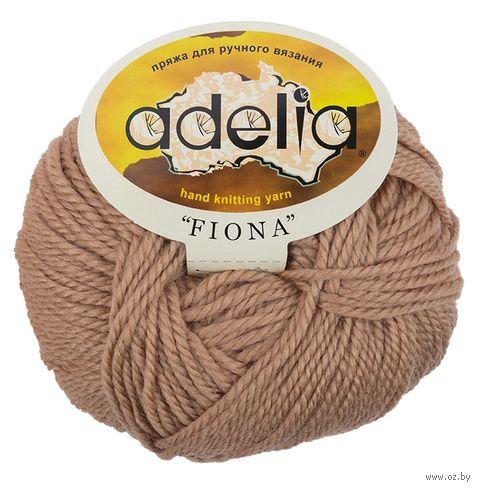 "Пряжа ""Adelia. Fiona №630"" (50 г; 90 м; тёмно-бежевый) — фото, картинка"