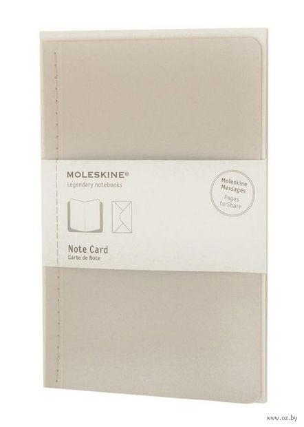 """Почтовый набор Молескин """"Note Card"""" с конвертом (большой; мягкая белая обложка)"""