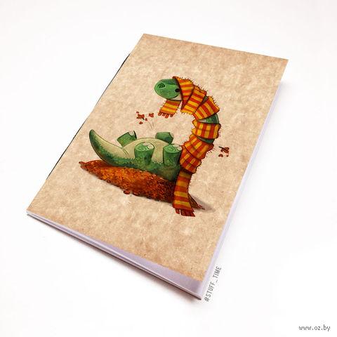 """Блокнот крафт """"Динозаврик"""" (А5; арт. 955) — фото, картинка"""