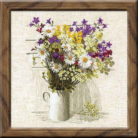 """Вышивка крестом """"Полевые цветы"""" (450х450 мм) — фото, картинка"""