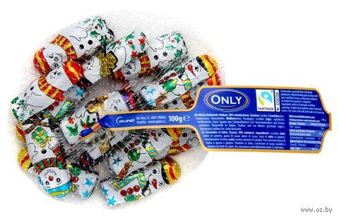 "Шоколад молочный фигурный ""Снеговики"" (100 г) — фото, картинка"