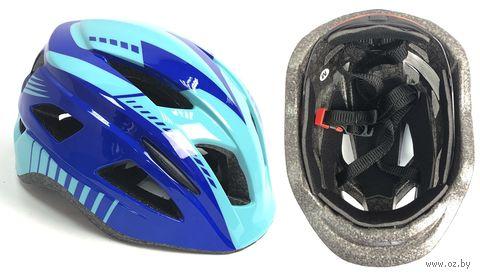 Шлем велосипедный детский (M; синий; арт. 03-2M) — фото, картинка
