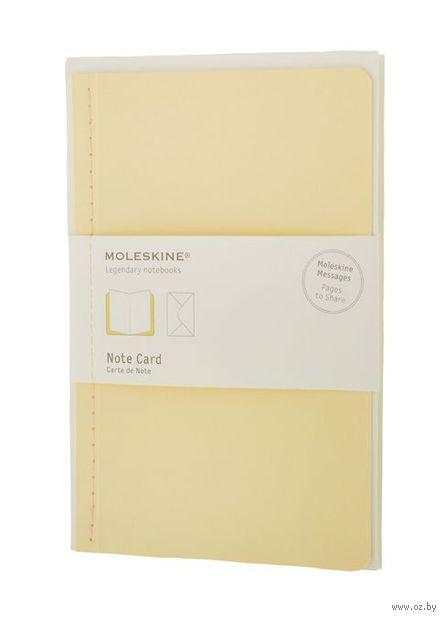 """Почтовый набор Молескин """"Note Card"""" с конвертом (большой; мягкая желтая обложка)"""